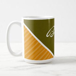 Olive Green Orange Mugs