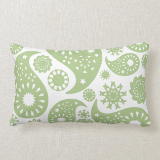 Olive Green Paisley Pattern. Pillow