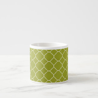 Olive green pattern espresso cup