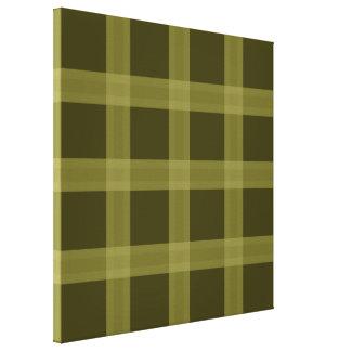Olive Green Plaid Pattern Canvas Wall Art Canvas Print