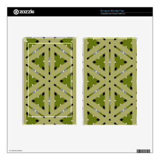 Olive green plaid pattern repeat kindle fire decals