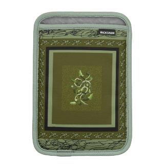 Olive Green Plant Design iPad Mini Sleeve