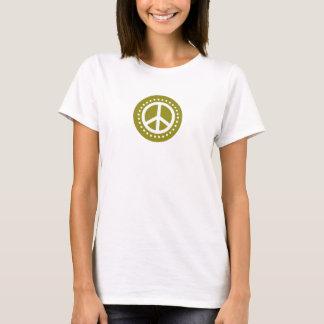Olive Green Polka Dot Peace Sign T-Shirt
