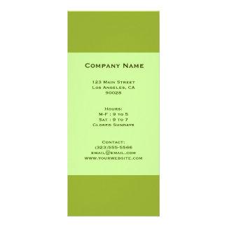 olive green rack card
