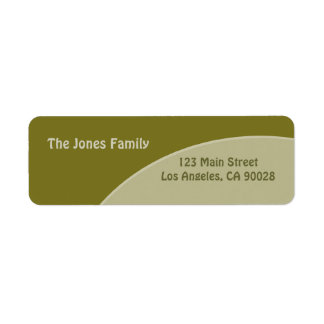 Olive green red circles label