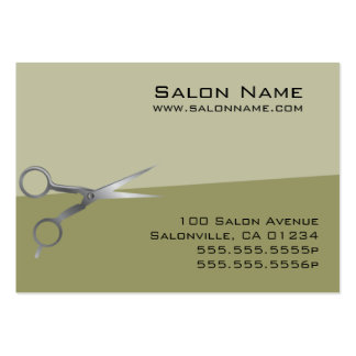 Olive Green Salon Business and Punch Cards Business Card