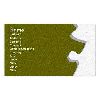 Olive Green Sandstone Profile Card Double-Sided Standard Business Cards (Pack Of 100)