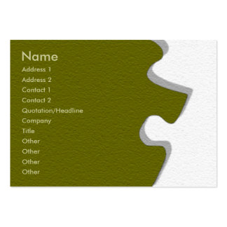 Olive Green Sandstone Profile Card Large Business Cards (Pack Of 100)