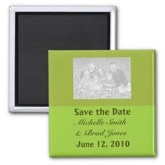 Olive Green Save the Date Magnet