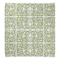 Olive green scrollwork pattern bandana