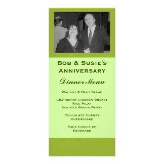 Olive Green Special Event Menu Rack Card Design