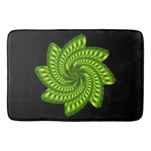 Olive Green Spiral Bathroom Mat Zazzle