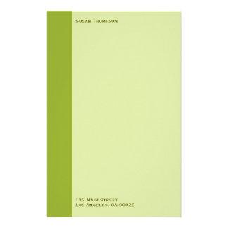 Olive green stationery