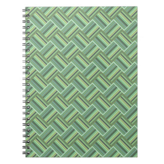 Olive green stripes weave notebook