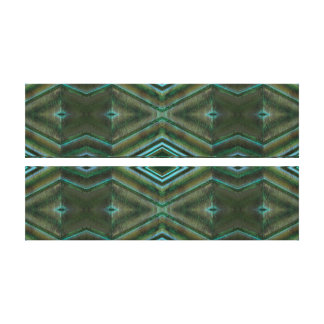 Olive Green Teal Abstract Canvas Print
