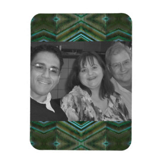olive green texture photoframe magnet