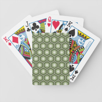 Olive Green Tiled Hex Playing Cards