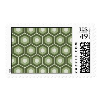 Olive Green Tiled Hex Postage