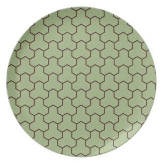 Olive Green Tri-Hex Plate