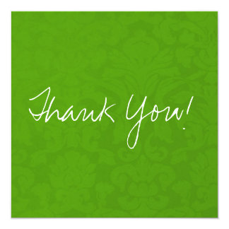 Olive Green Vintage Flat Thank You Cards
