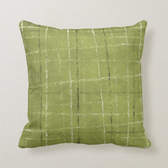 Black Plaid Throw Pillow : Olive green, white, & black plaid pattern throw pillow Zazzle