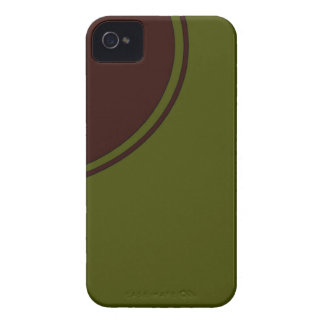 olive green with brown circle iPhone 4 case