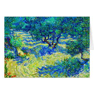 Olive Grove by Vincent Van Gogh Stationery Note Card