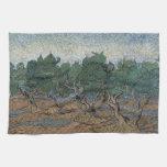 Olive Grove by Vincent Van Gogh Kitchen Towels