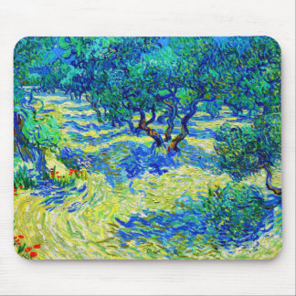 Olive Grove by Vincent Van Gogh Mouse Pad