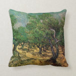 Olive Grove by Vincent van Gogh Pillow
