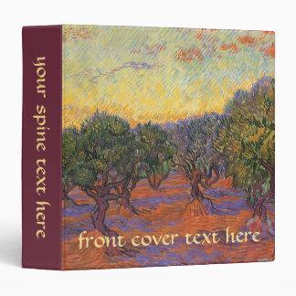 Olive Grove Orange Sky by Vincent van Gogh Vinyl Binders