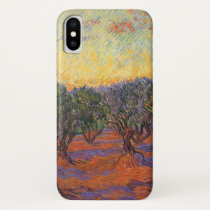 Olive Grove, Orange Sky by Vincent van Gogh iPhone XS Case