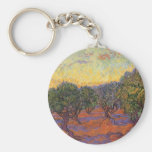 Olive Grove, Orange Sky by Vincent van Gogh Keychains