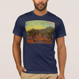 Olive Grove Orange Sky by Vincent van Gogh T-Shirt