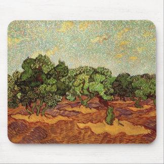 Olive Grove Pale Blue Sky by Vincent van Gogh Mousepads
