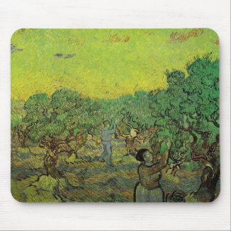 Olive Grove with Picking Figures by van Gogh Mouse Pads