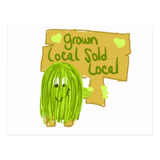 Olive grown local sold local postcard