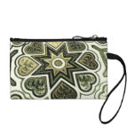 Olive Hearts & Stars Key & Coin Wristlet