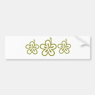 Olive hibiscus aloha flower bumper stickers