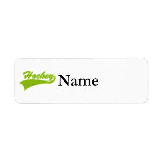 Olive Hockey Logo Return Address Label