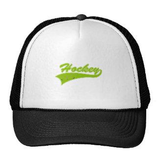Olive Hockey Logo Trucker Hat