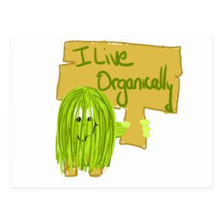 Olive I Live Organically Postcard