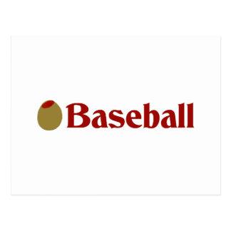 Olive (I Love) Baseball Postcard
