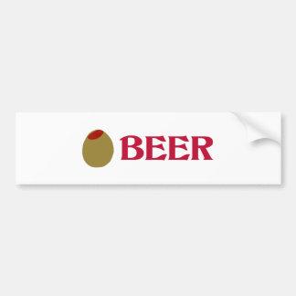 Olive (I Love) Beer Bumper Sticker