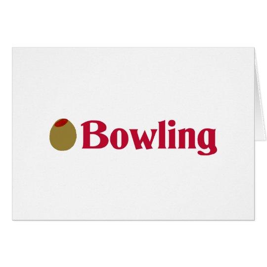Olive (I Love) Bowling Card