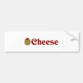 Olive (I Love) Cheese Car Bumper Sticker