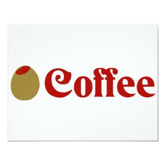 Olive (I Love) Coffee Personalized Invitation