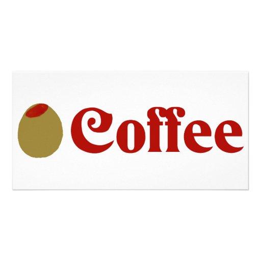 Olive (I Love) Coffee Photo Card