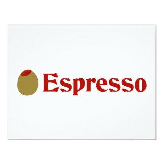 Olive (I Love) Espresso Personalized Announcements