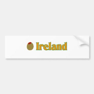 Olive (I Love) Ireland Bumper Sticker